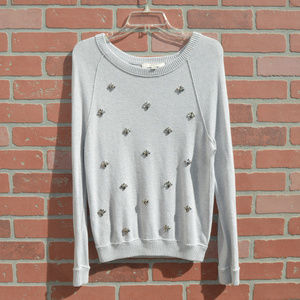 Ann Taylor Loft embellished sweater size small